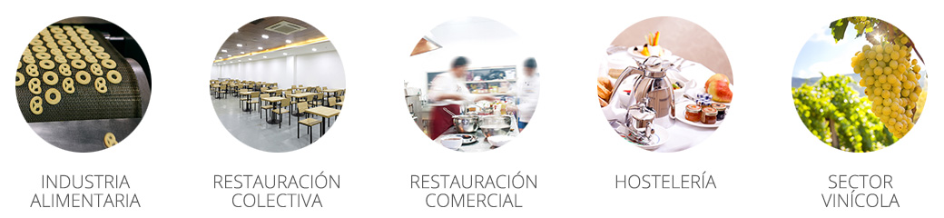 Industria alimentaria, restauración colectiva y privada, hostelería y sector vinícola